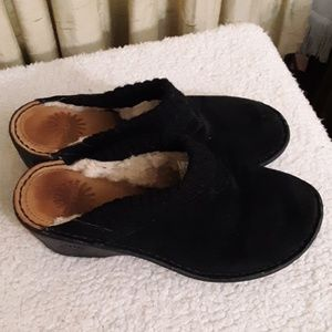 Ugg Black Slide On Clogs Sz 8